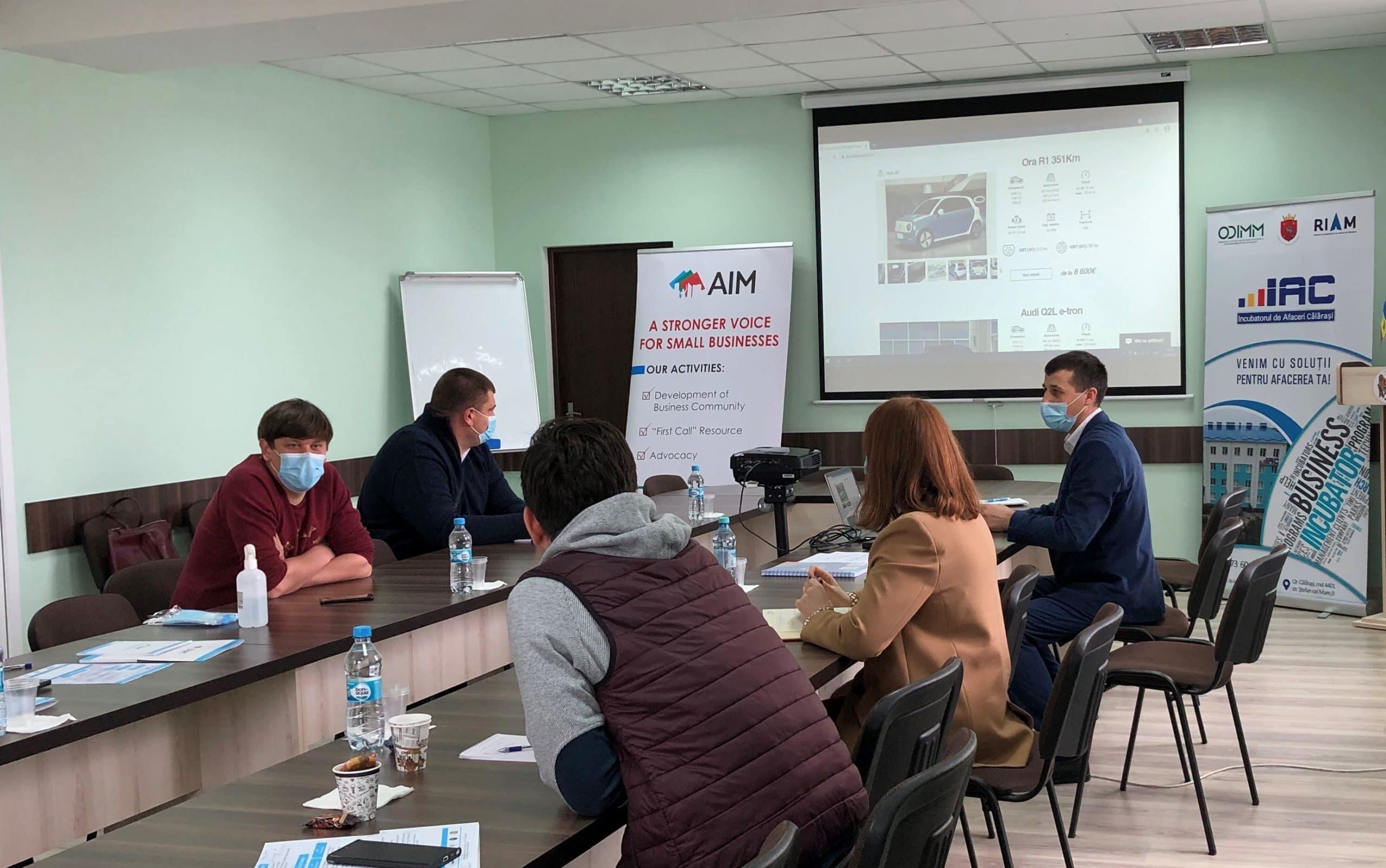 AIM în vizită la incubatorul de afaceri din Călărași